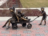 Sculpture of children at play