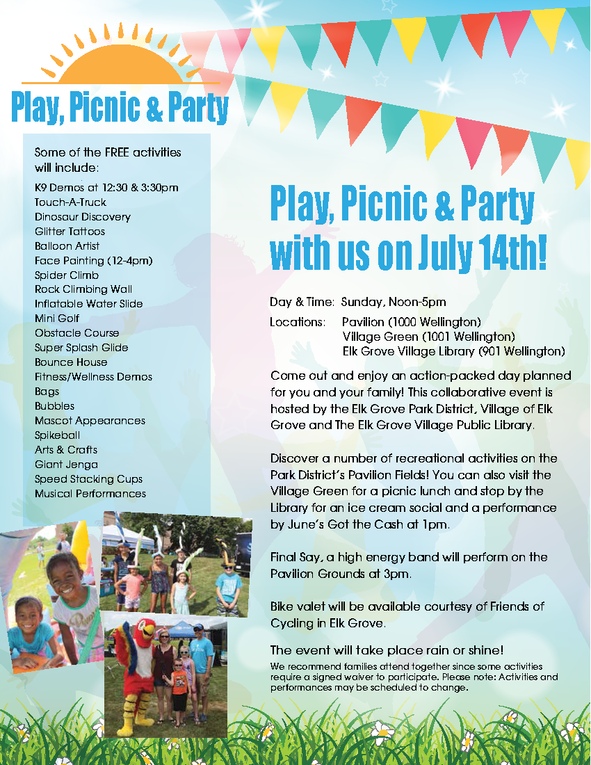 Play Picnic Party Flyer 2019
